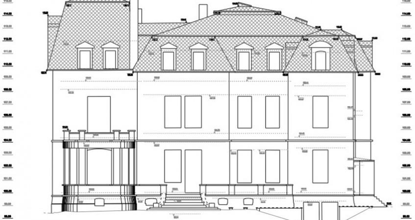 Villa privée - plan de façade