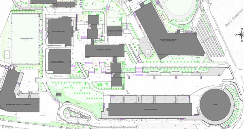 Plan Campus Merl
