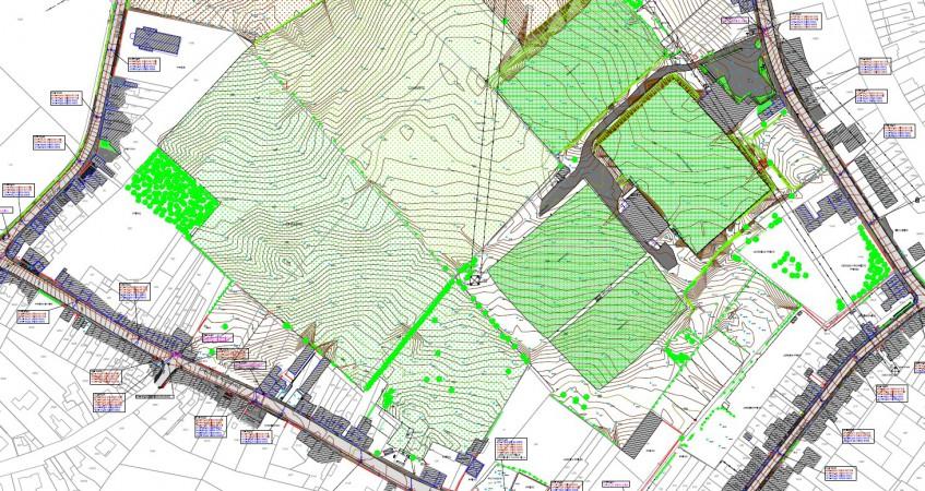 Levé topographique pour projet immobilier