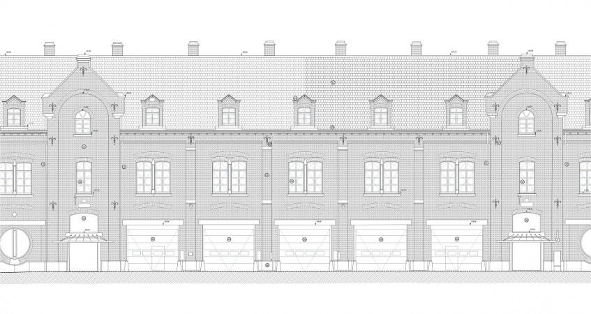 Bâtiment public (plan de façade)